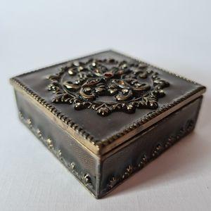 Christiana Mini Square Trinket Jewellery Box